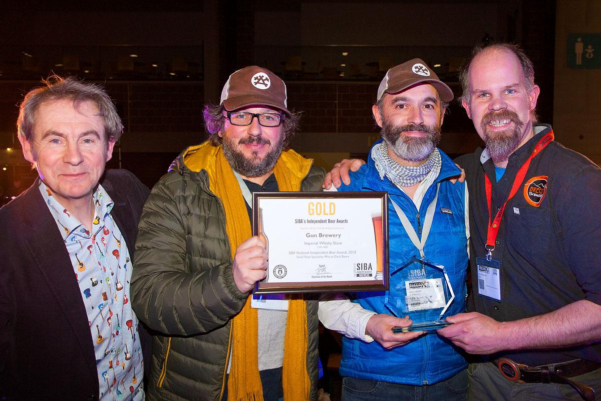SIBA Gold for Gun Brewery