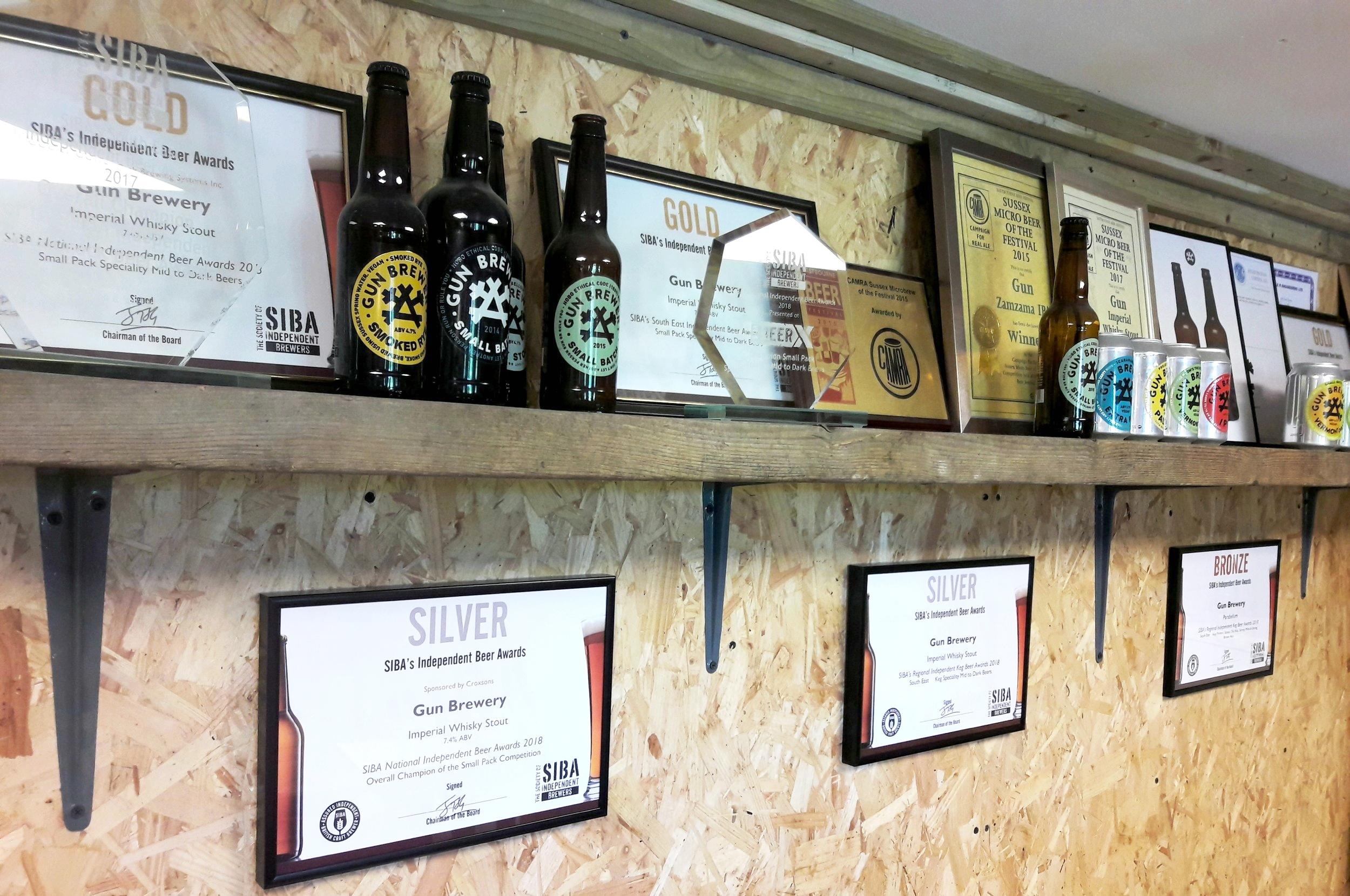 Gun Brewery awards