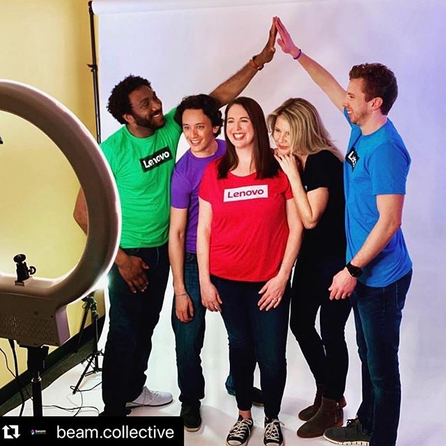 High fives all around for working with fabulous teams on promotional shoot.  @brand_fuel has the coolest showroom of branding options! . . . #radiantbeautybyashley #ncmua #mua #promotionalshoot #lifestyle #branding #marketing #lenovo #photoshoot #raleigh #rtp #beamcollective #styleshoot #onlocation #bts