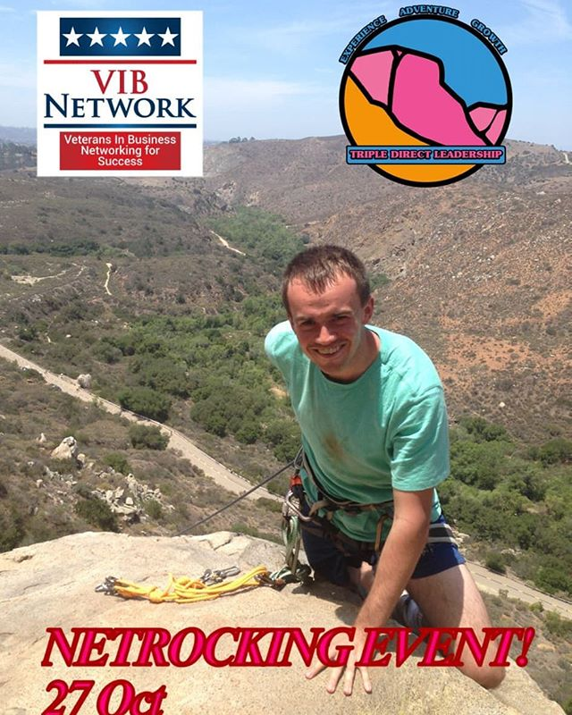 NETROCKING!  We are proud to be sponsoring an awesome day of networking while rock climbing with @vibnetwork for their national conference in San Diego!  It's the day before the event kicks off (27 Oct 2019)  vibconference.com  Sign up here: www.tdleadership.com/open-experiences/netrocking  To sign up you must be participating in the VIB national conference.