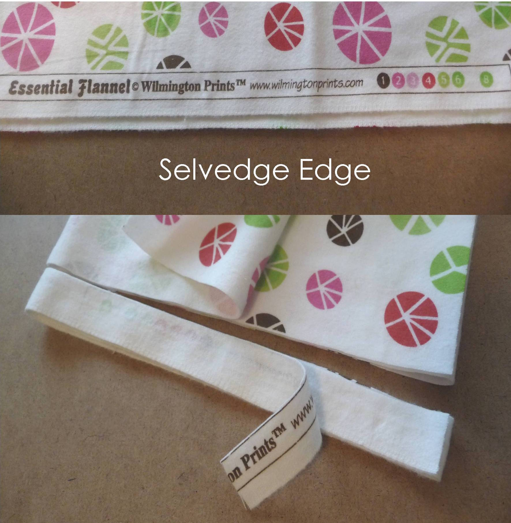 # 1 - Start by cutting of the selvedge edge that often has the designer, company name, etc. on it.