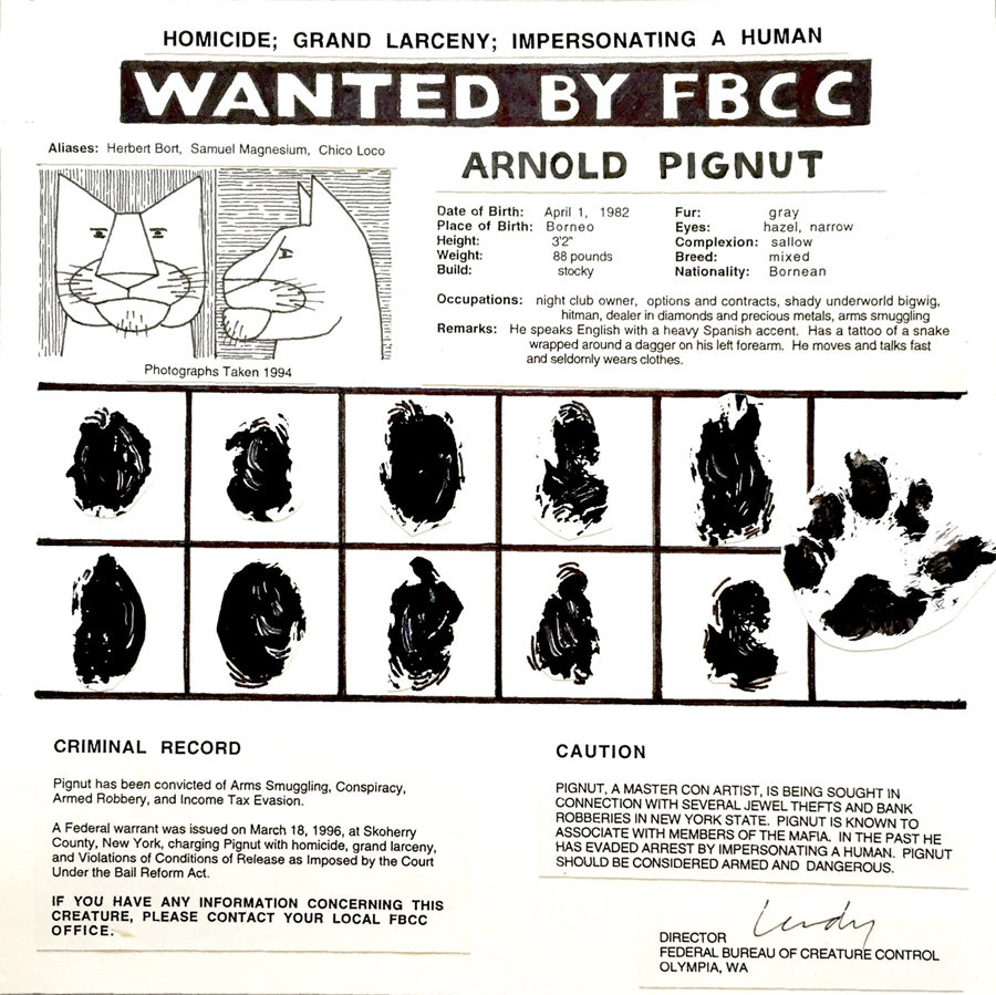 The Getaway - Arnold Pignut Wanted Poster