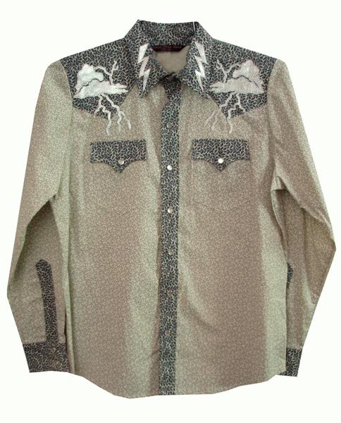 thunder & lighting snap shirt