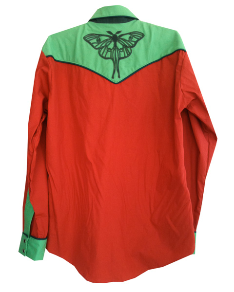 luna moth snap shirt