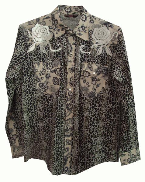 roses & brambles snap shirt