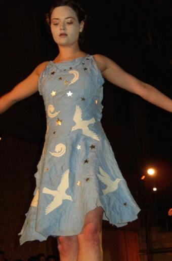 starry doves bandage dress