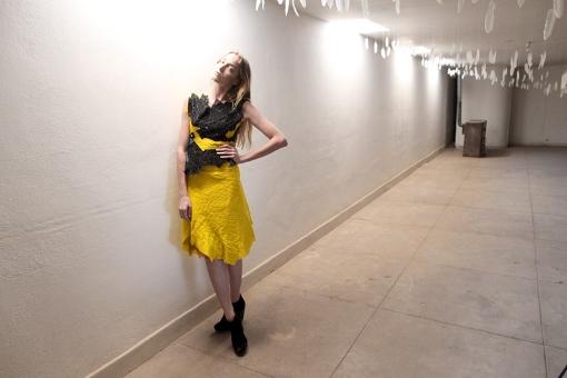 Franken-bandage top and skirt