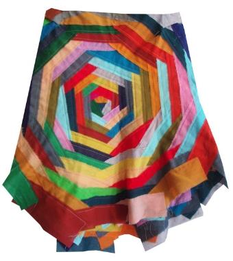 rainbow bandage skirt