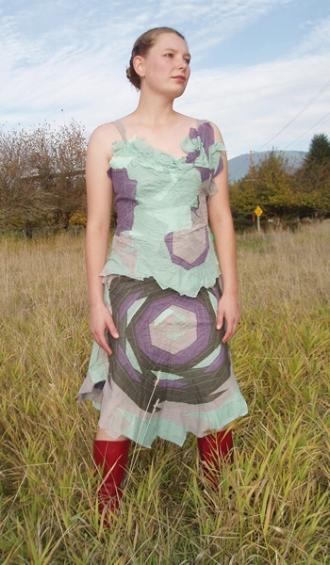 sagebrush bandage top and skirt