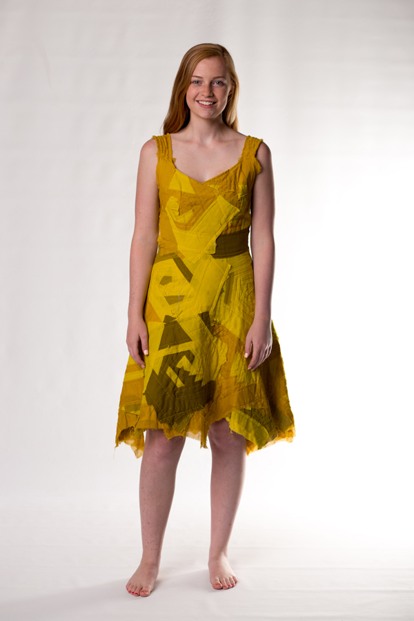chartreuse bandage dress
