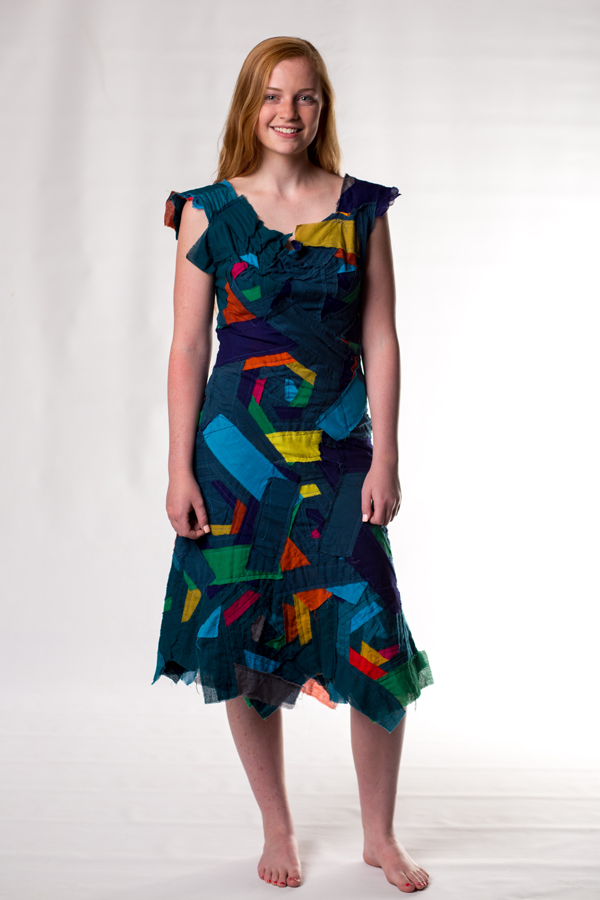 dark rainbow bandage dress