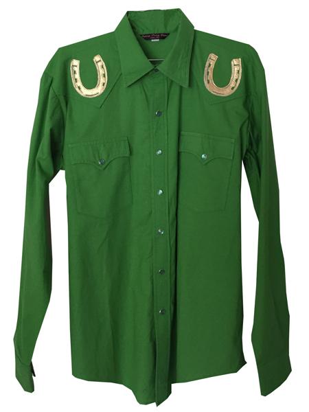 lucky horseshoes snap shirt