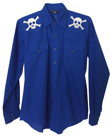 skull & crossbones snap shirt
