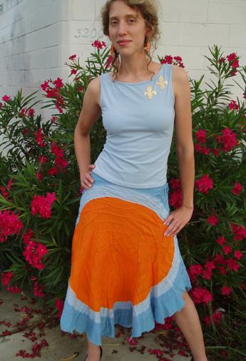 fleur de lis top & bandage skirt