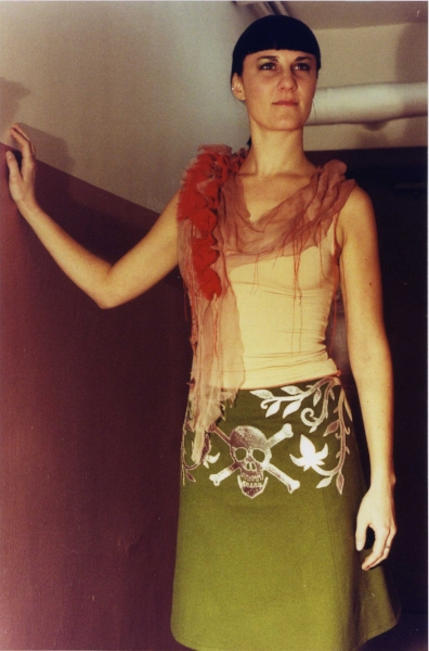 wound top and skull & lotus skirt