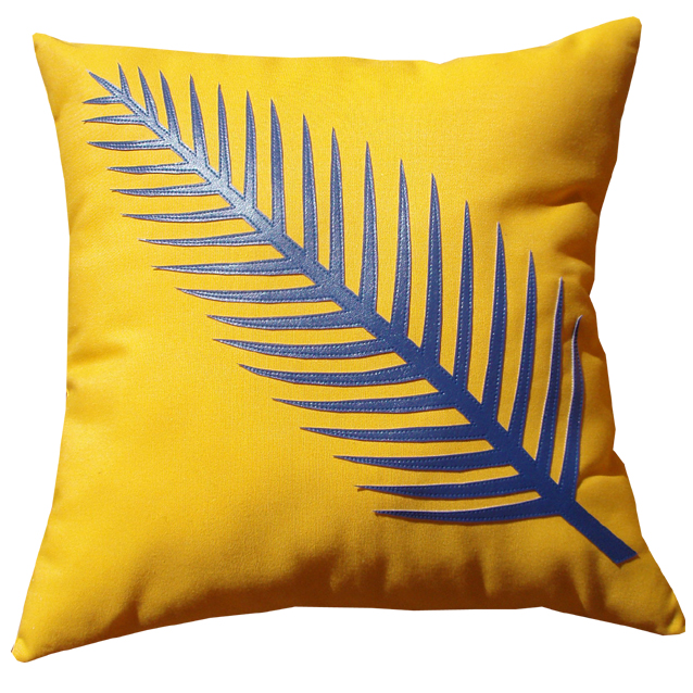 fern skeleton cushion