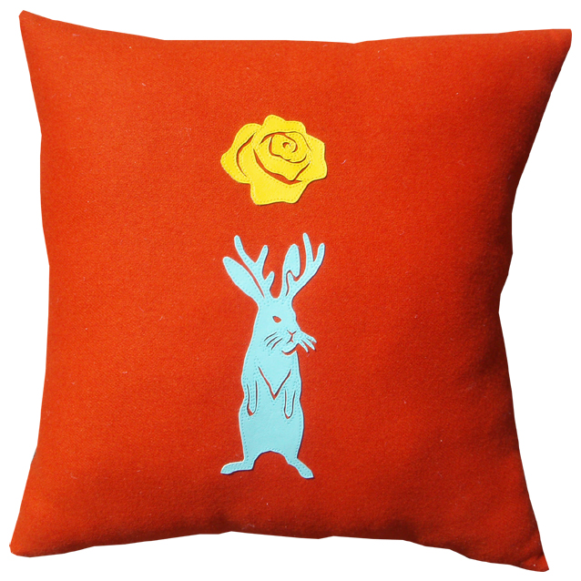 jackalope cushion