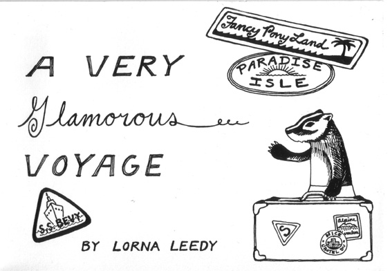 A Very Glamorous Voyage - title page