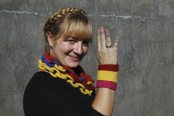 felted wool chains and bangles