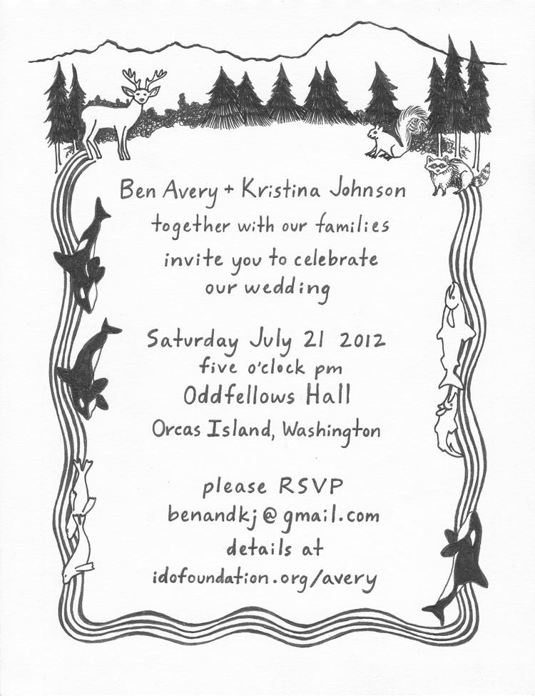 wedding invitation for Ben & Kristina