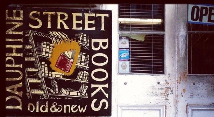 Dauphine Street Books sign