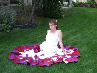 Fiona's wedding dress