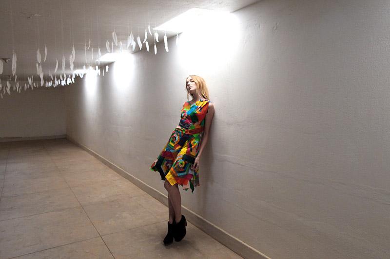 rainbow bandage dress