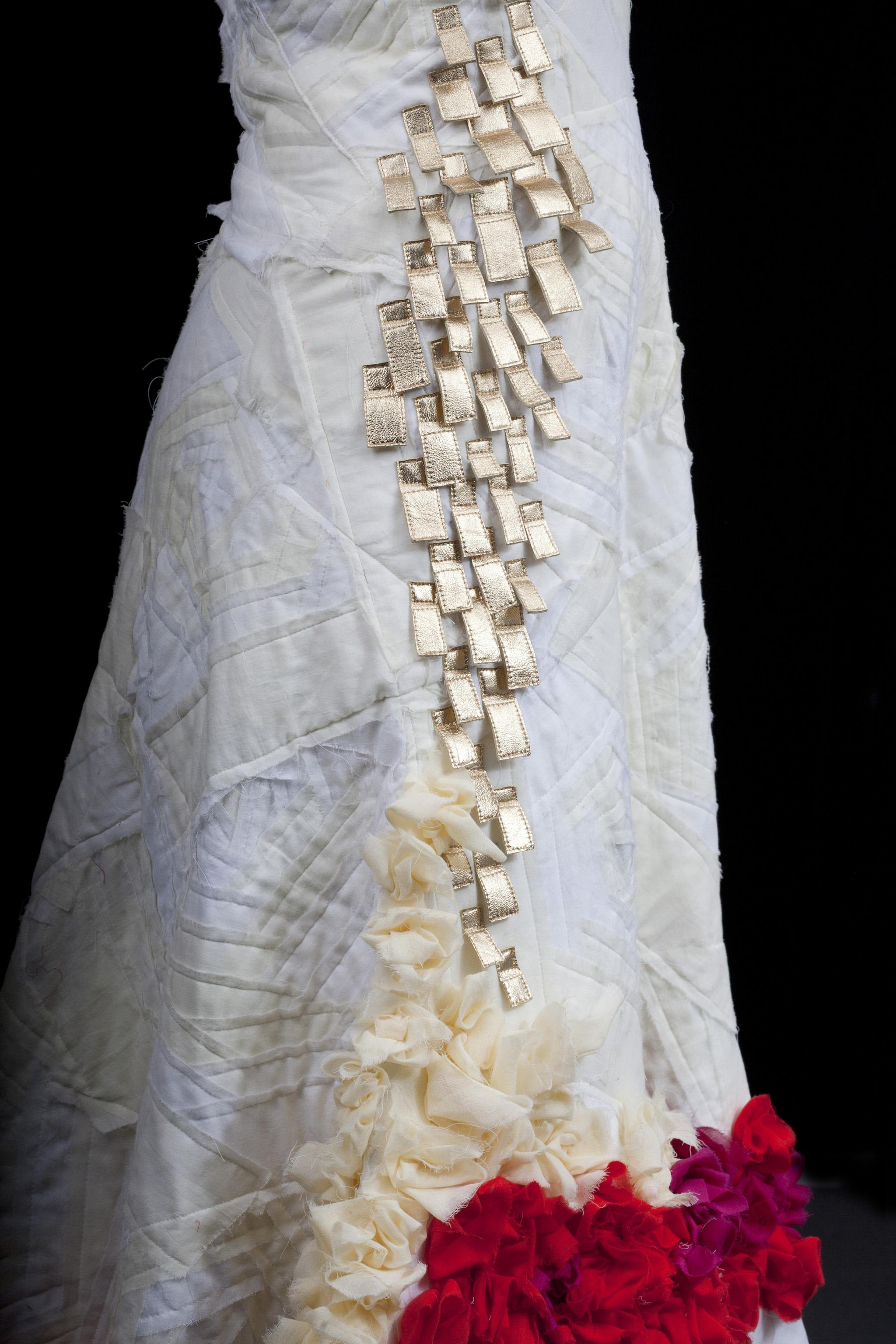 Mexican wedding dress, detail