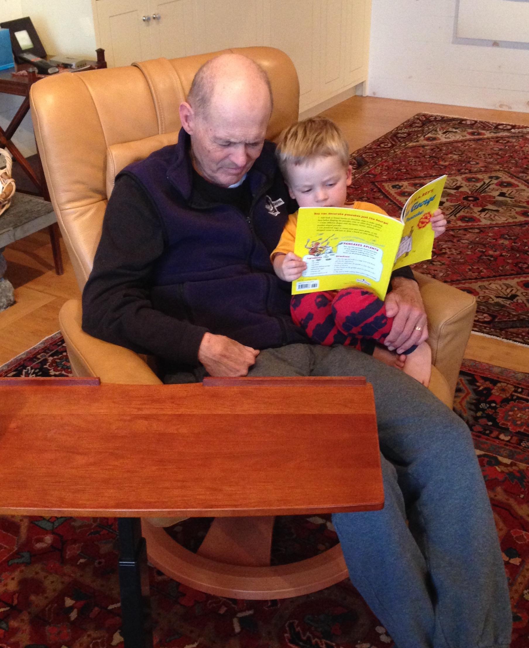 "Hazard ""reading"" to Dad"