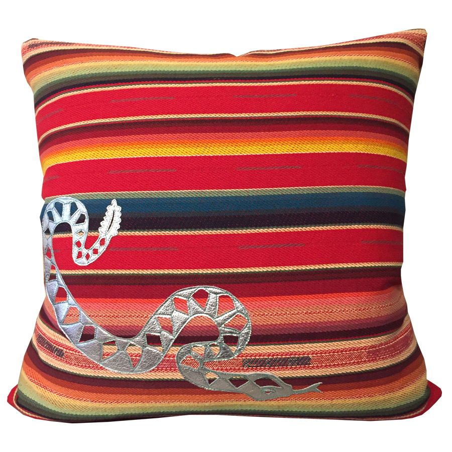 rattlesnake sunset cushion