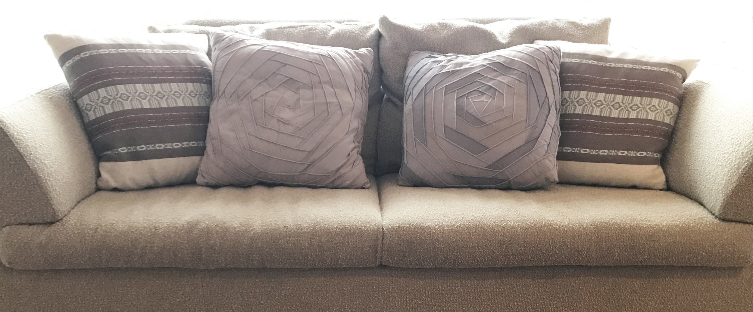 bandage and Lummi Island cushions