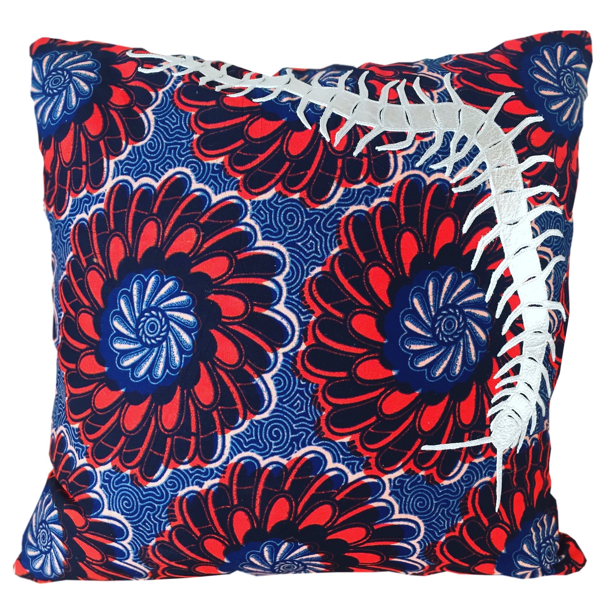 red headed centipede cushion
