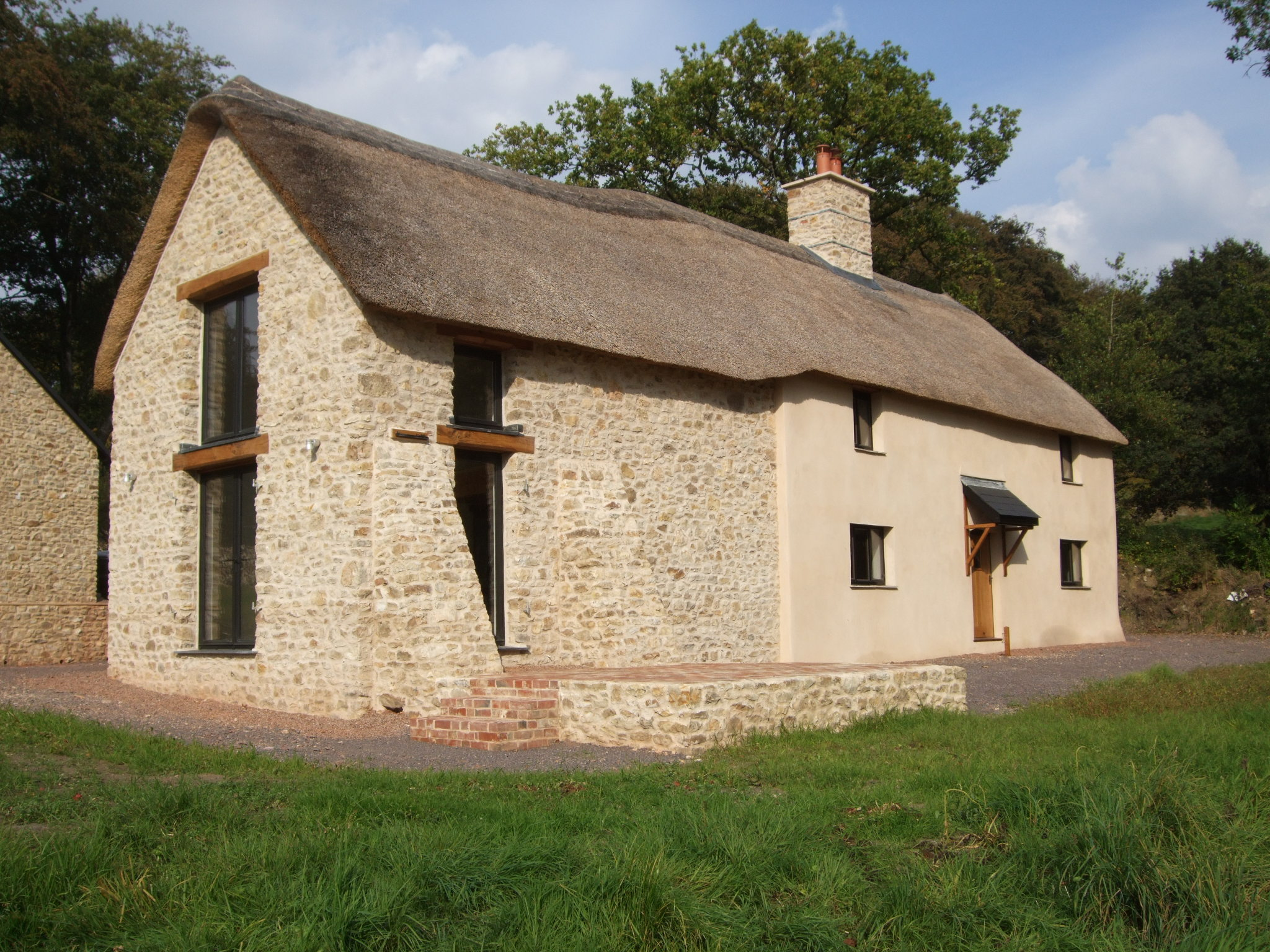 """17th Century Lobby Entrance Farmhouse with 19th Century barn attached - having been a pheasant """"pen"""" for years"""