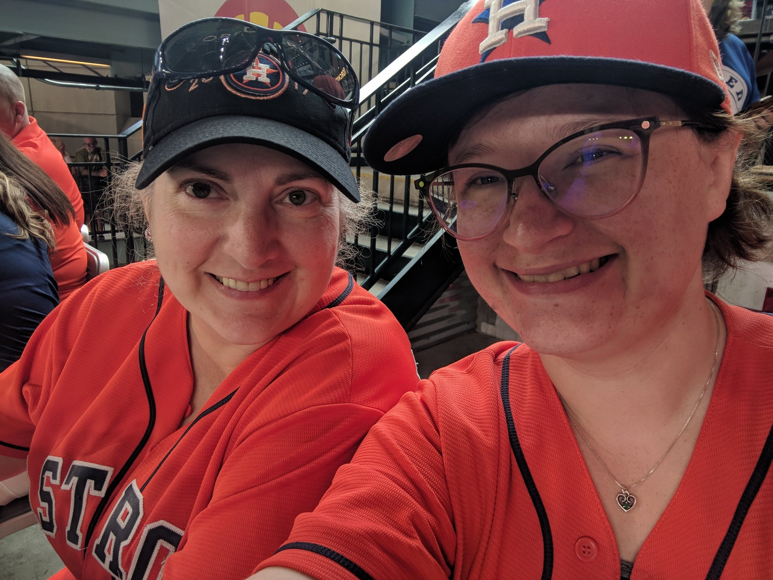 Melissa (left) and I (right) at an Astros game