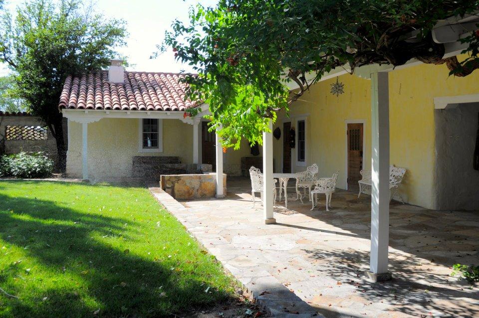 Wyeth House courtyard.
