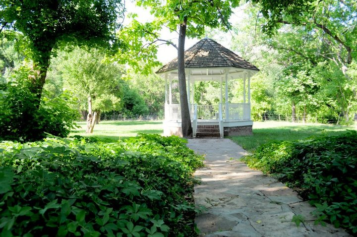 The Wyeth House's lovely gazebo which is located in the backyard grounds.