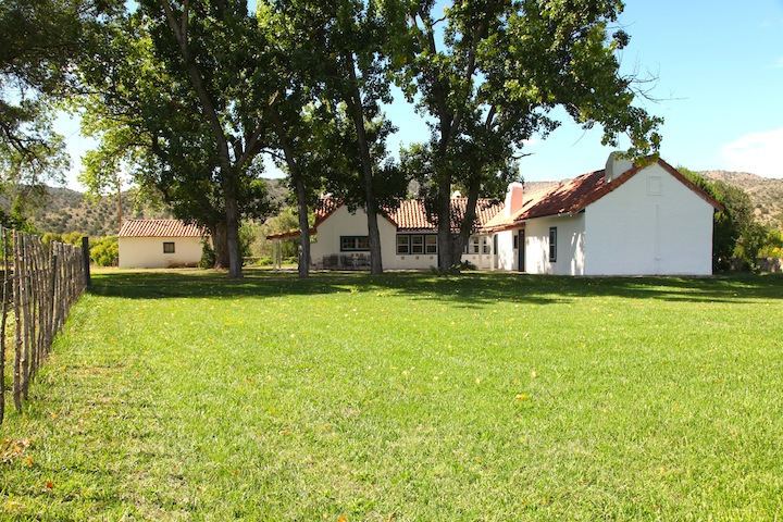 Front lawn of Las Milpas.