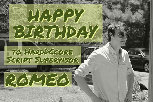 Shout out to @romeo_cab 🤘 And thanks for keeping everything in line during the #harddccore production 🎥🎬 . . #dcpunkrock #1980spunkrock #scriptsupervisor #birthdayboy #birthday #filmdevelopment #preproduction #indiefilm #diy #nostalgia #acreativedc #madeindc #bythings #202creates #exploretocreate #createcommune #mydccool #dmv #80spunkrock #2020productions #harddccorecharacters