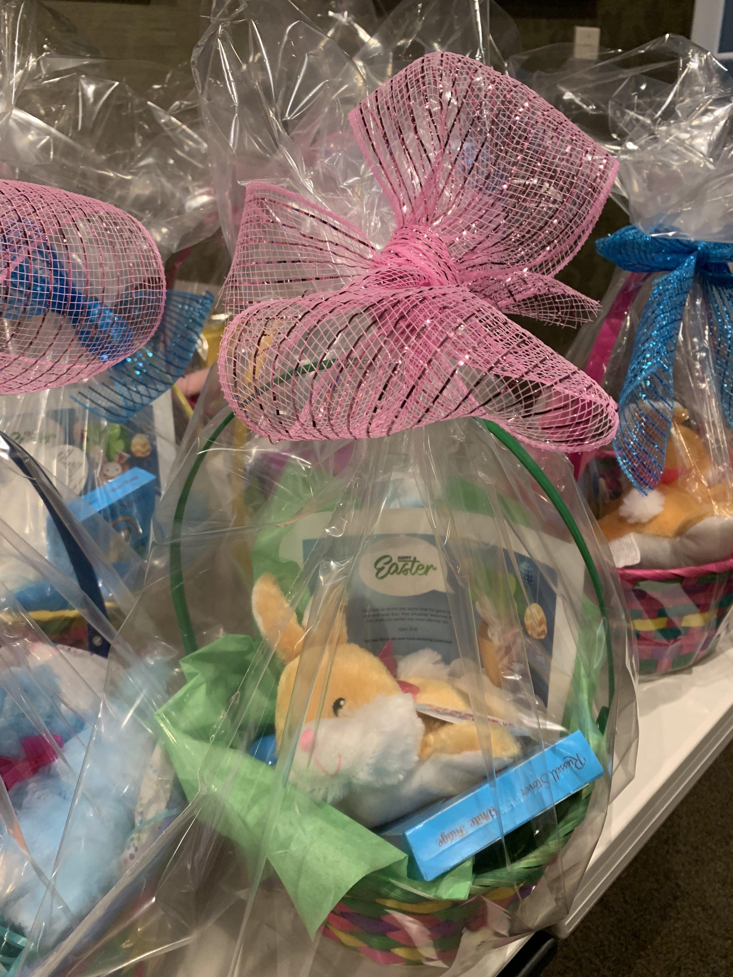 Easter baskets for the Detroit public school children.