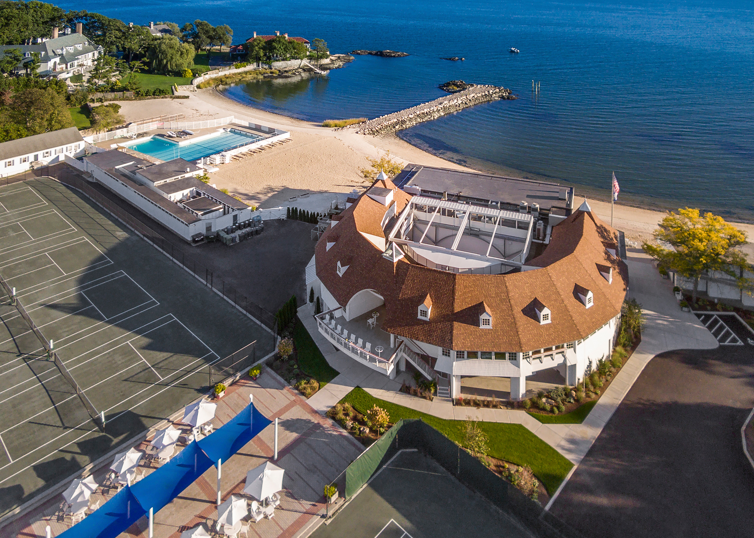 Tokeneke Beach Club  Darien CT architectural design by PBS Architects and Rogers McCagg Architects.
