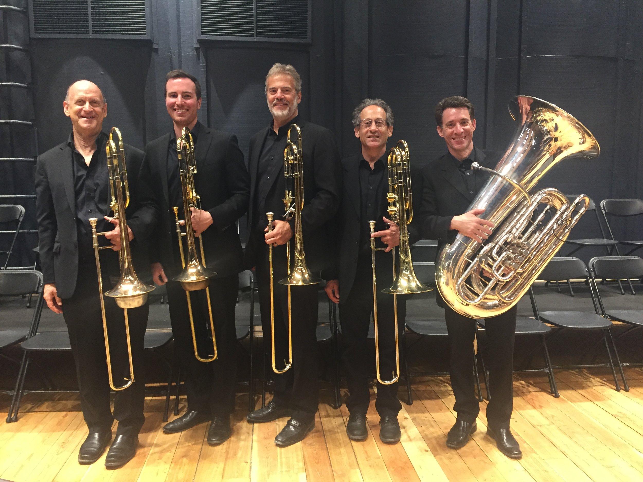 Michael Mulcahy, Jay Evans, Jared Rodin, Craig Knox, after performing Mahler's Third Symphony at the Grand Teton Music Festival