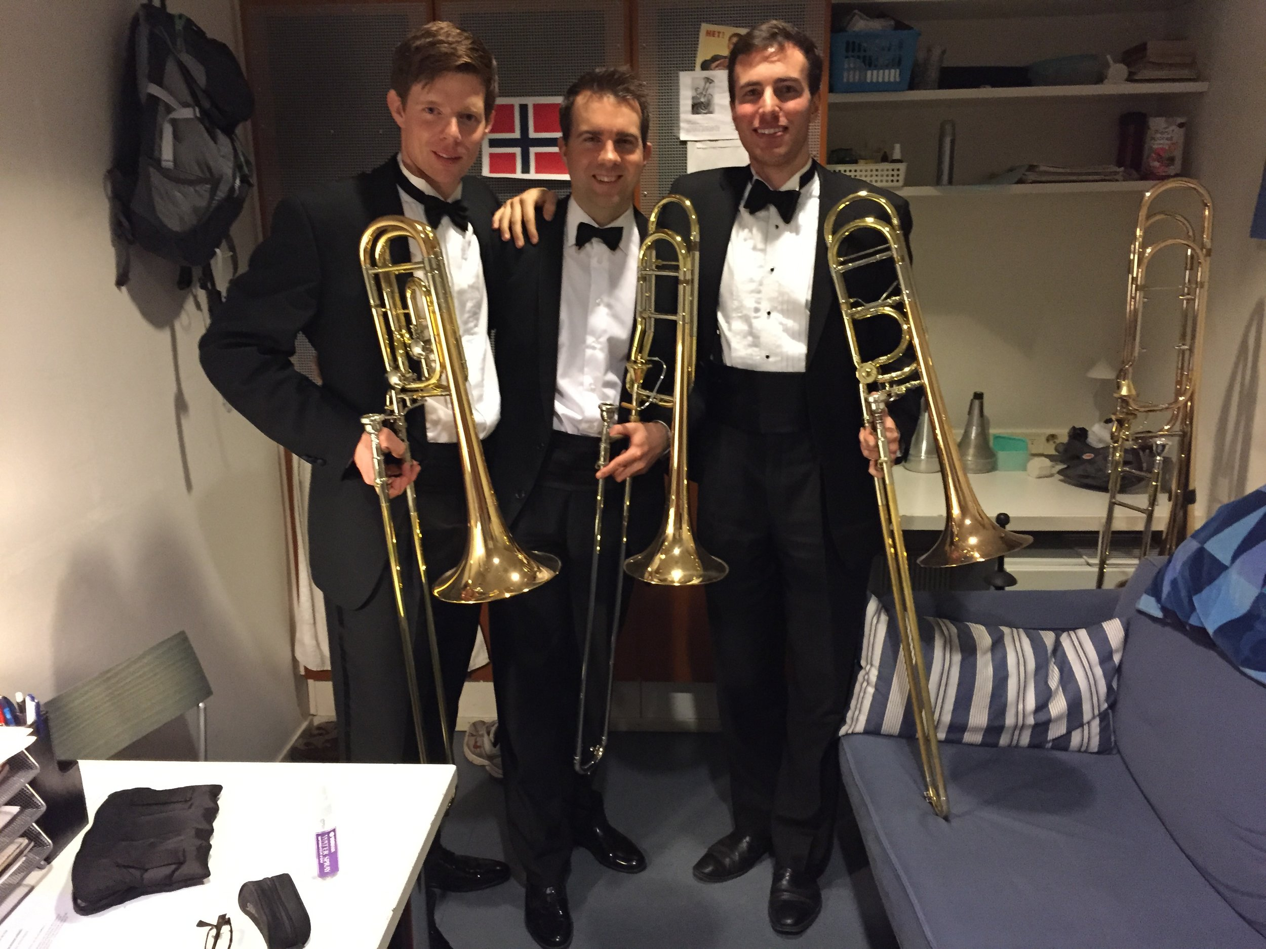 Niklas Larsson and Olav Severeide, after my final performance with the Finnish National Opera