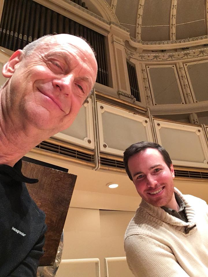 Filling in with the Chicago Symphony and my mentor Michael Mulcahy, performing Bartok's Concerto for Orchestra. 2nd trombone solos!