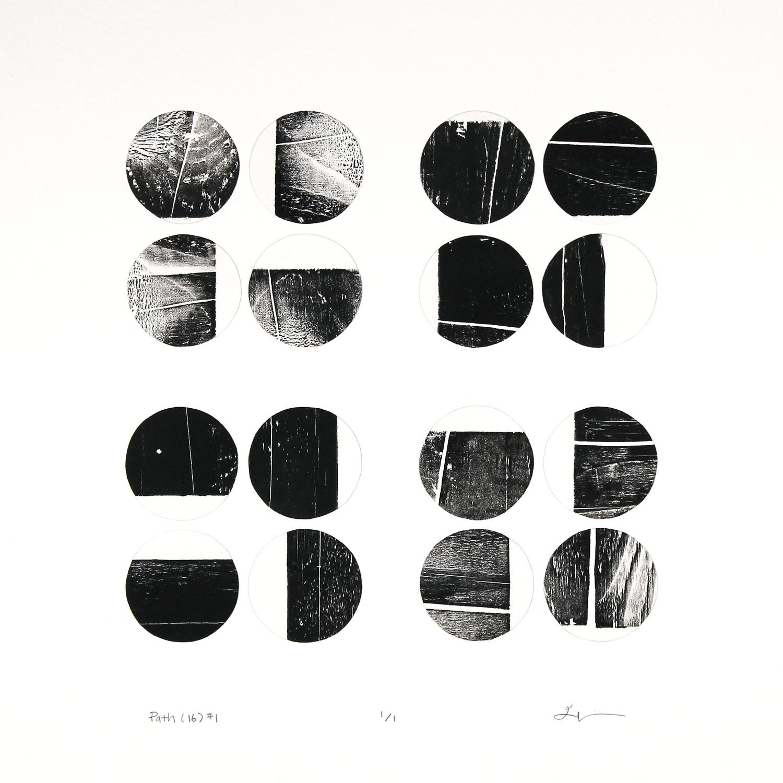 path (16) #1 , reclaimed wood monoprint, 2018