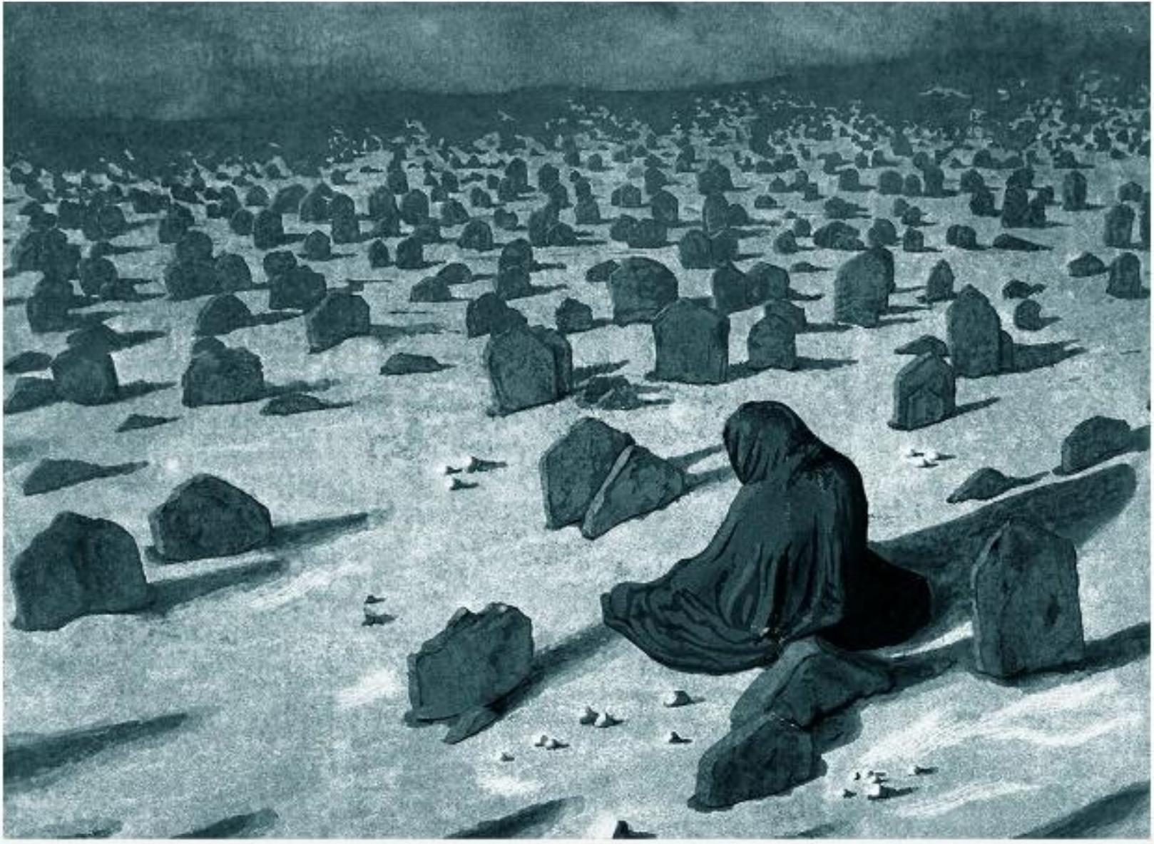 Mehdi Darvishi,  Old Desert , mixed intaglio Fabriano Paper, 120x40cm, 2017