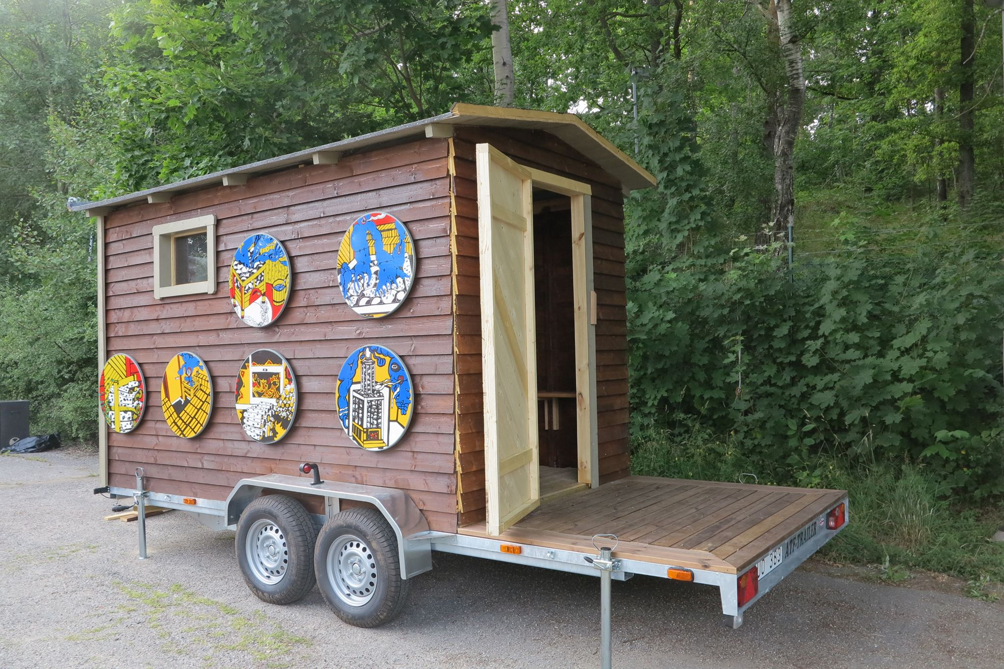 Exterior of the Art Sauna.
