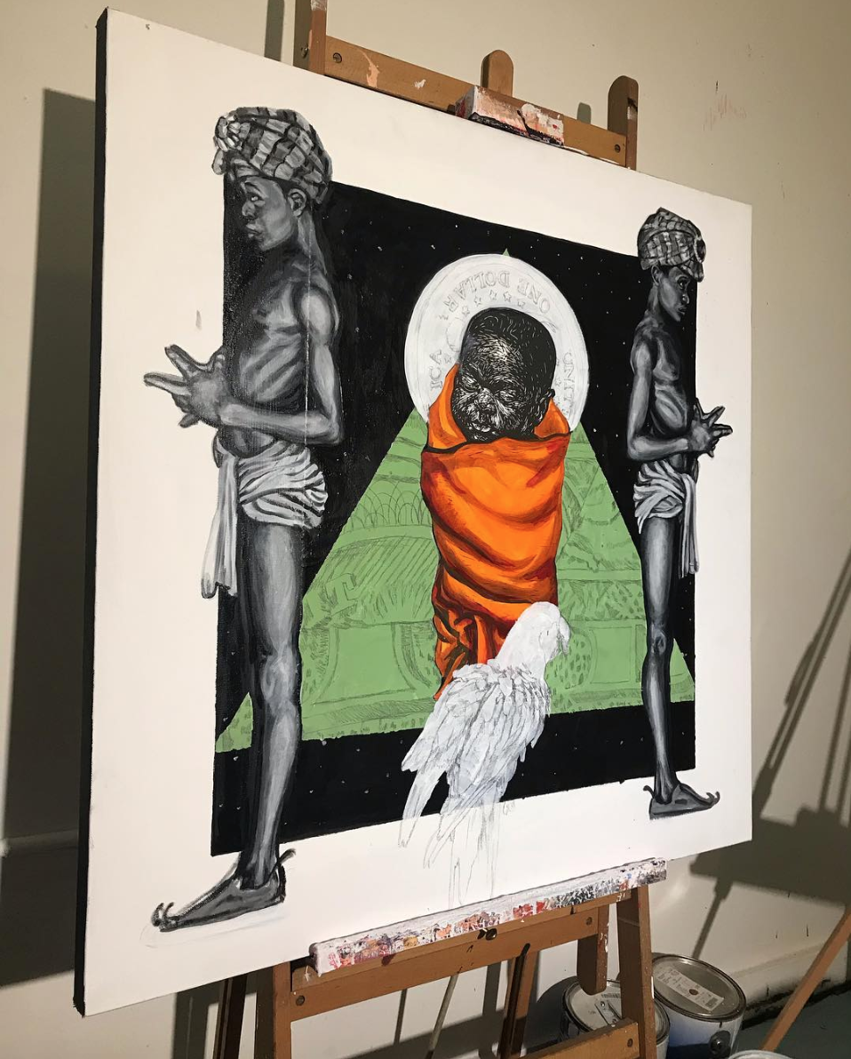 Barber's collaboration with artist Choze titled  My Broyo's Keeper