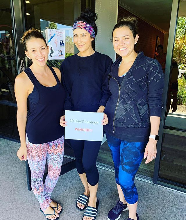 CONGRATULATIONS ••• These beauties rocked our 30 day challenge! Our challenge winner @lisabezzina completed 34 of 34 possible classes in 30 days to win a free month of unlimited classes! @emingee came in 2nd with 32 classes, and @mrs_jking right behind with 31 classes! Congratulations on your commitment and finishing ALIGN strong! 🙌🏼 💪🏼