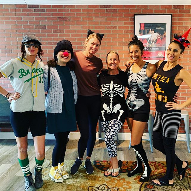 HAPPY HALLOWEEN ••• What a fun class this morning! Thanks to everyone who dressed up in the spirit of Halloween. Have a fun and safe night tonight! Enjoy!