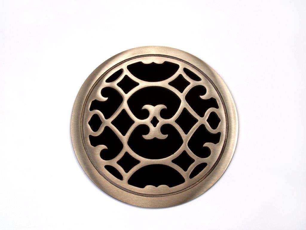 Filter grill round with damper 009--FINAL Renaissance Round Red Bronze.jpg